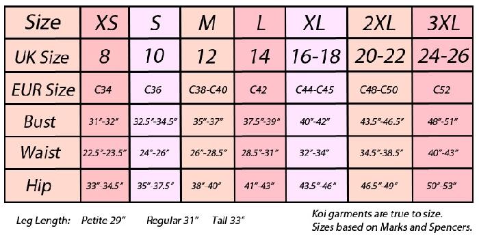 Image of Size chart