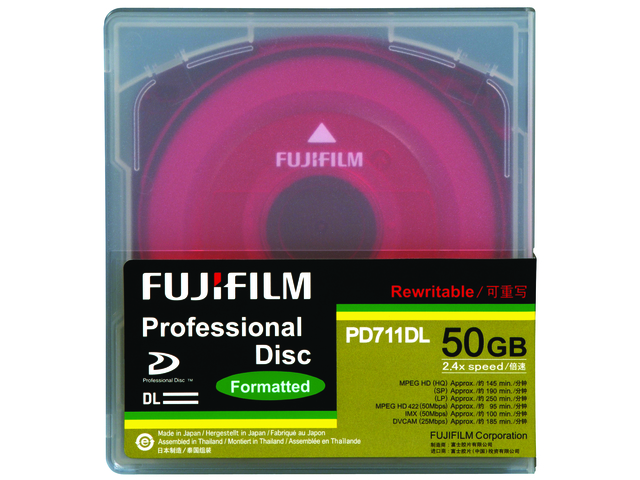 An image of FUJI XDCAM PD711 50GB DL