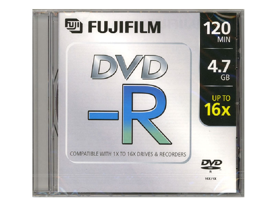 An image of FUJI DVD-R 16X JEWEL CASE 10 PACK