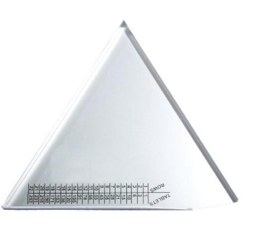 "An image of 10"" Aluminium Triangular Tablet Counter"