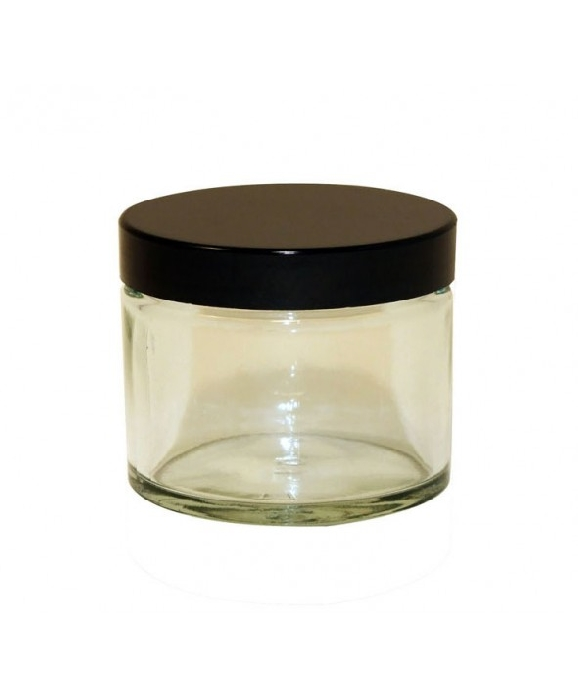 An image of Clear Glass Jars & Caps
