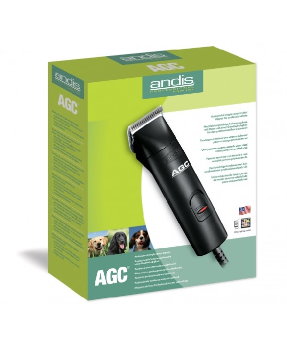 An image of Single Speed Detachable Blade Clipper (Black) AGC