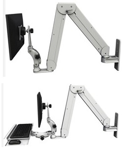 An image of Elite Paralink Compact Combination Wall Mount LCD Monitor and Keyboard Arm