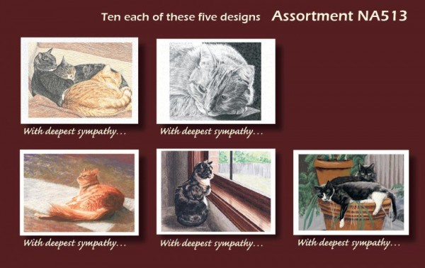 An image of Selection Cat Deepest Sympathy cards
