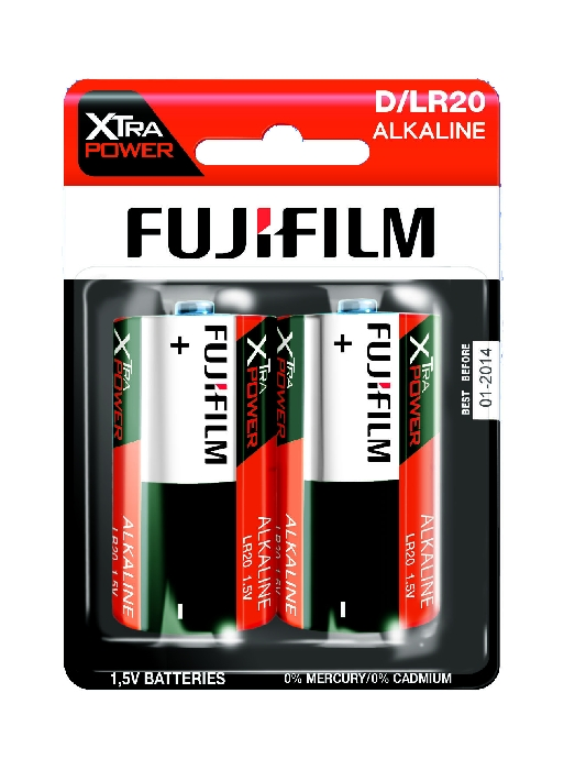 An image of Fujifilm Xtra Power Battery D x 2 Hang Pack