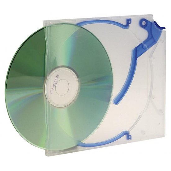 An image of DVD CLEAR OCEAN BLUE FLIP CASE