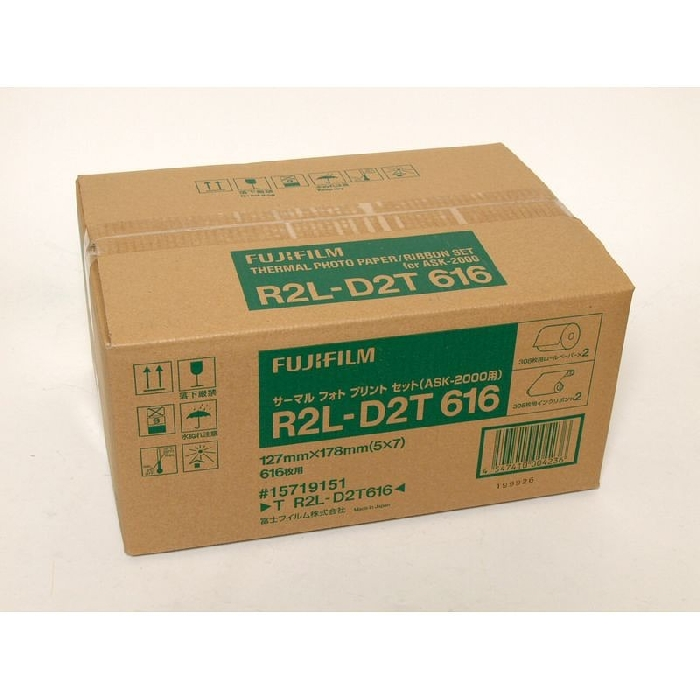 An image of FUJI R2L-D2F616 (ASK2500)(5x7) 2 Rolls Dye Sub Paper