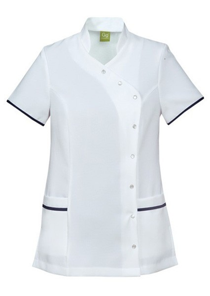 An image of TUNIC WHITE/BOTTLE GREEN SIZE 32