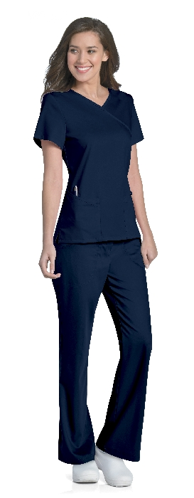 An image of Sophie Crossover Top Navy XS
