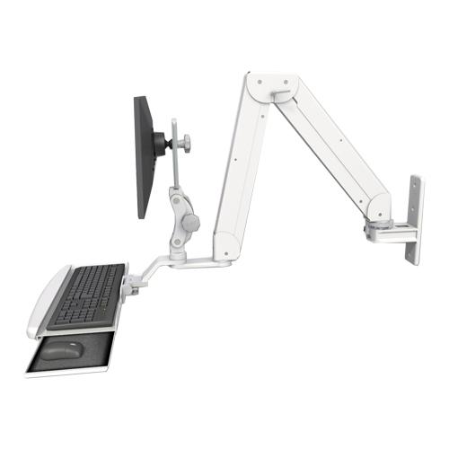 An image of Elite Paralink Monitor & Keyboard Wall Mount Ultra Medical White