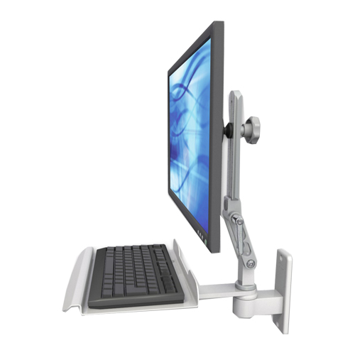 An image of Ultra 510 Keyboard & Monitor Wall Mount Compact Mini Medical White