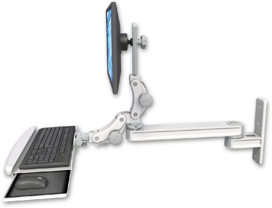 An image of T2 Paralink Series Keyboard & Monitor Wall Mount Single 20'' Paralink Ultra