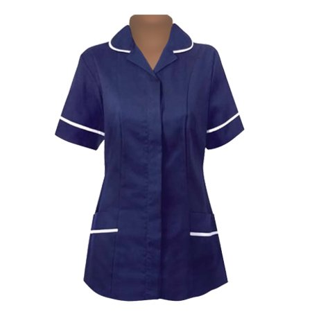 An image of TUNIC BLUE/WHITE SIZE 38