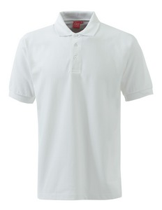 An image of POLO SHIRT WHITE SIZE LARGE CARDIOLOGY