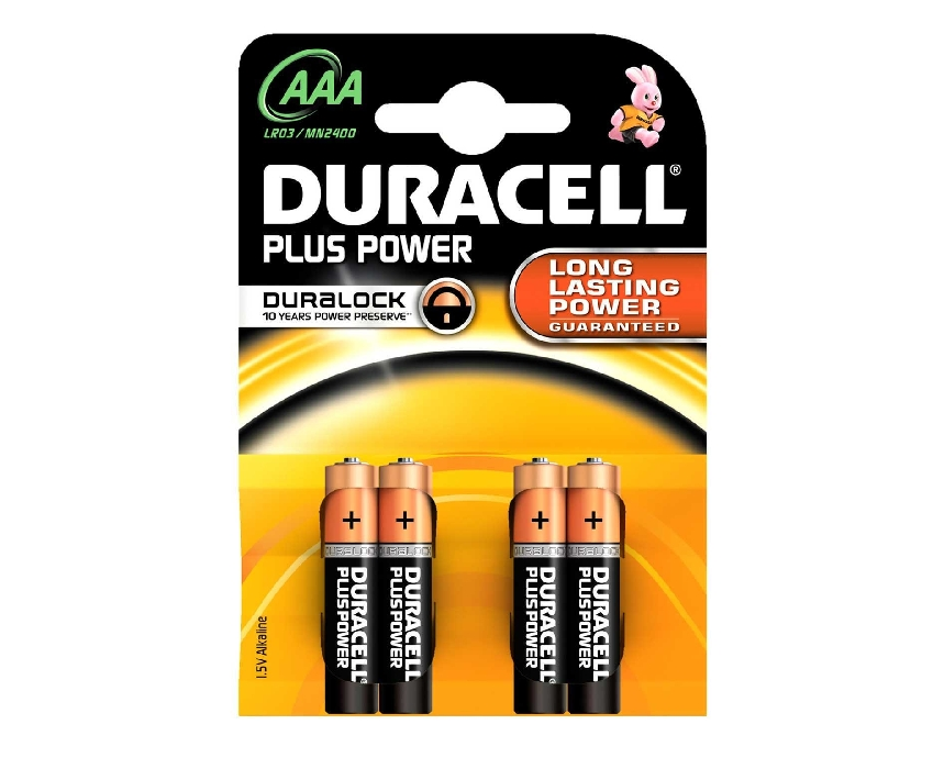 An image of Duracell Plus AAA BL4 (4) (MN2400P)