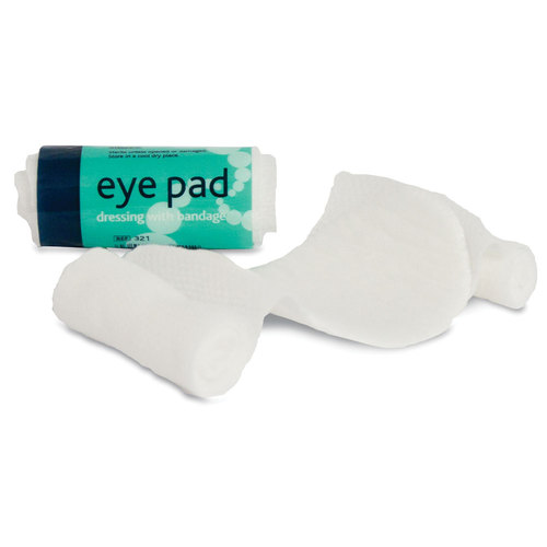 An image of EYE PAD DRESSING WITH ELASTICATED LOOP