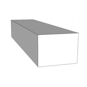 An image of Body Support 45x25x20 Uncoated