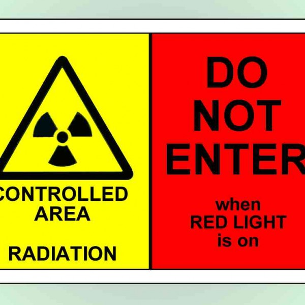 An image of Self Adhesive A4 'X-Ray Radiation Controlled Area - DO NOT ENTER'