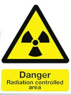 An image of Self Adhesive A4, DANGER - Radiation Controlled Area Warning Sign
