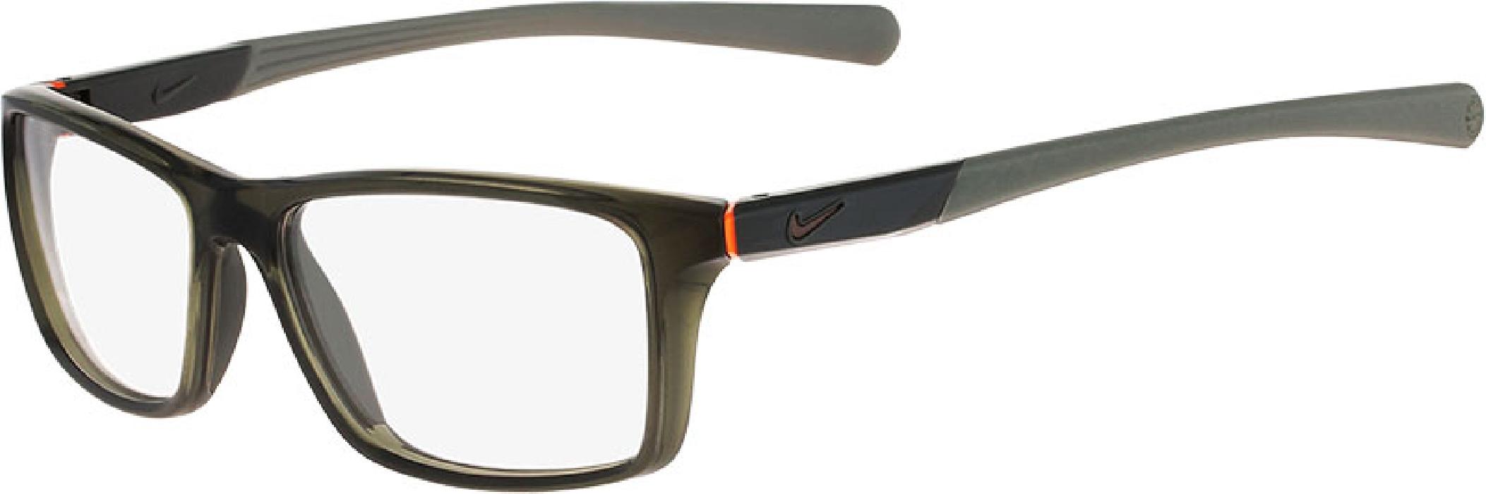 An image of Nike 7087 Cargo Khaki/Total Orange