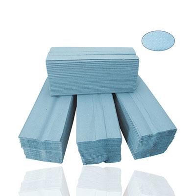 An image of Handtowels 1Ply - V Fold Blue /Green