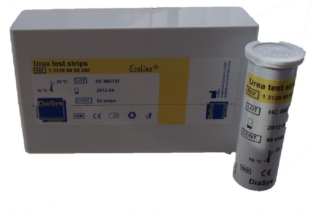 An image of DiaSys Urea Strips (60) per tube
