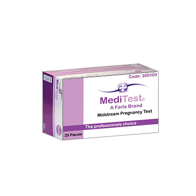 An image of Meditest  Midstream  Pregnancy Test  25 Pcs / Box
