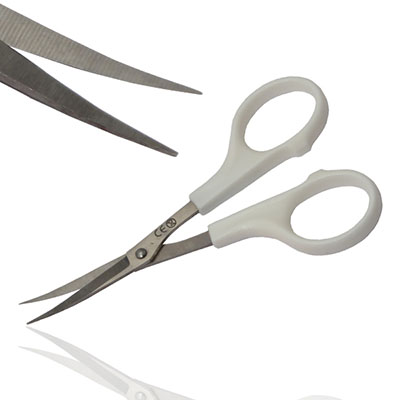 An image of Iris Scissor Curved With Plastic Handles & Metal Tips  Sterile