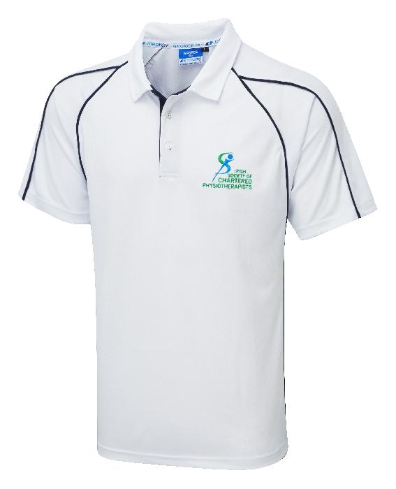 G-Force Unisex Poloshirt White ISCP Logo