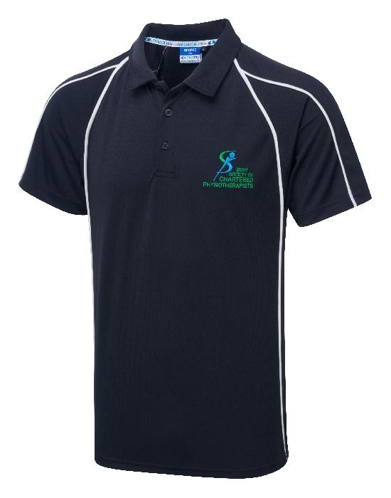 G-Force Unisex Poloshirt Navy ISCP Logo