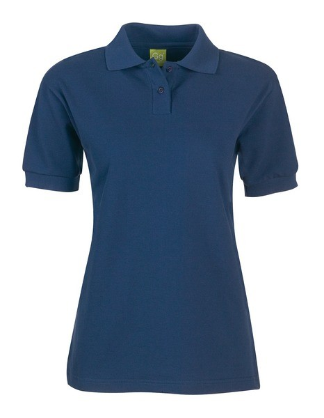 PS819 Ladies Fit Poloshirt Plain Navy ISCP Logo