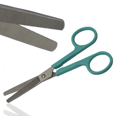 An image of Dressing Scissor Blunt/Blunt Plastic Handles & Metal Tips Sterile