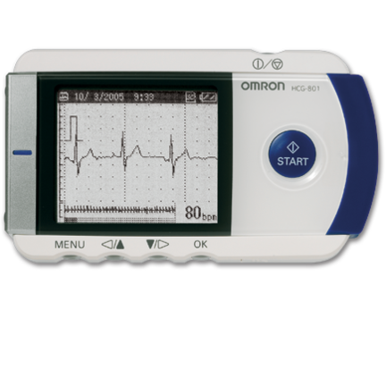 An image of Omron HeartScan Portable ECG Monitor with software