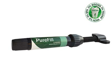 An image of Elsodent PUREFILL composite. 3g syringe. A1/B1