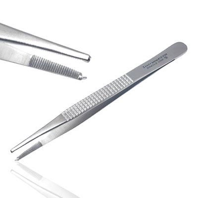 An image of Instramed Sterile Bonney Dissecting Forceps Toothed 18cm