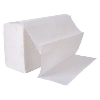 An image of Hand Towels 1Ply White Inter-Fold Towel 240x15 (3600)