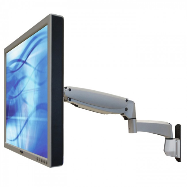 An image of VisionPro 6901 series heavy duty gas assisted LCD wall mount arm  Silver