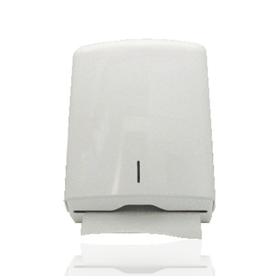An image of Multifold Handtowel Dispenser - White Metal