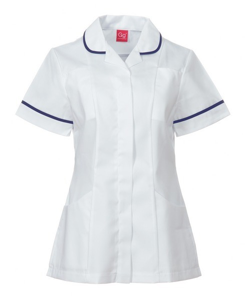 An image of TUNIC WHITE/NAVY SIZE 30
