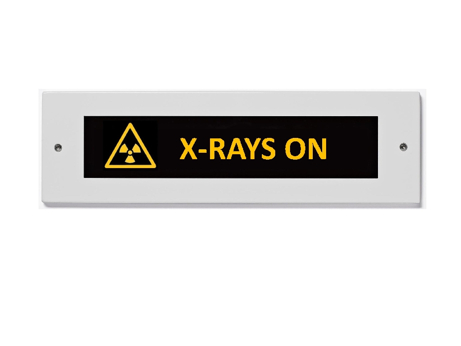 An image of Slim Jim LED X-Ray Radiation sign 230 V Red