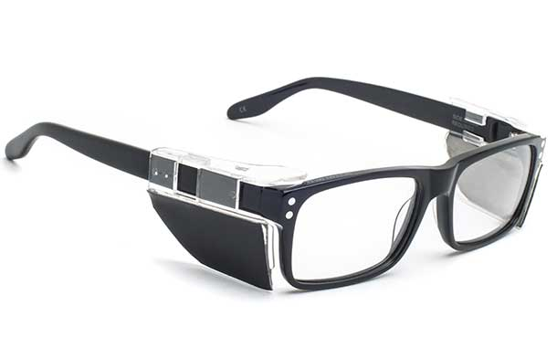 An image of Titanium Frames with side shields  - Plano