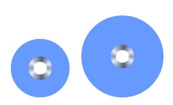 An image of Maflex Pop on Disk 10mm  coarse blue