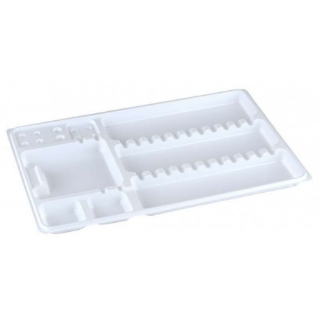 An image of Monotray Partitioned White 28x18cm ( 50)