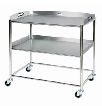 An image of Surgical Trolley with 2 Stainless Steel Trays