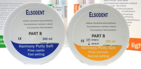 An image of Elsodent HARMONY Putty soft regular setting 300ml + catalyst 300ml