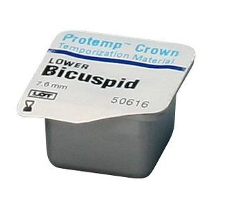 An image of Protemp Crown Temp Material Bicuspid Lower