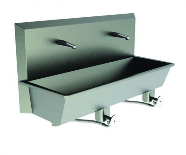 An image of Scrub Sink 2 Station Sinks (Knee Push) Superior quality
