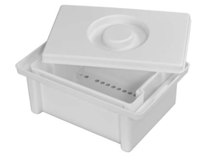 An image of Disinfection Tub 3 Litre with Drain Insert & Lid (Plastic)