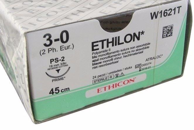 An image of Ethilon 3/0 USP Suture 75cm PS 26mm 3/8 Circle RC Needle (36)