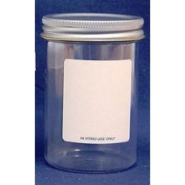 An image of Ointment Jars 100ml (Polystyrene and Metal Lid) (10)